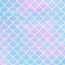 Vector Cute Background With Fish Scale And Shining Sparcles On