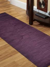 hand knotted gabbeh wool 2 6 x8 runner rug solid purple l00111 getmyrugs com