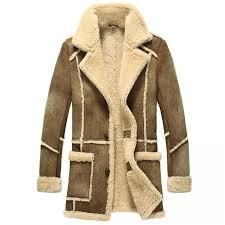Designer Fur Jacket Men Men Designer Fur Shearling Sheepskin Coat