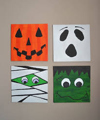 Halloween colored paper finishes off the look of the decorations. Henredon Faux Bamboo Dining Set 7 Piece Set Decoration Halloween Wall Art Halloween Canvas Halloween Canvas Art