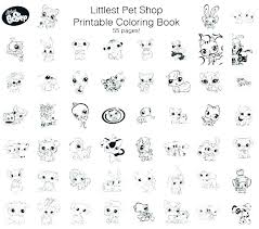 Pet Store Coloring Pages My Littlest Shop Sheets Page Rgbdesignco