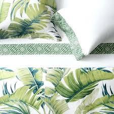palm leaf duvet cover tropical leaf bedding palm leaf duvet cover canada
