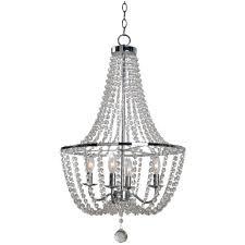 kenroy home celeste 4 light chrome chandelier