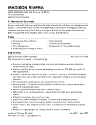political campaign manager resume best assistant finance director resumes resumehelp
