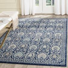 safavieh evoke vintage blue ivory distressed rug 6 7