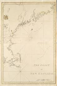 Nautical Charts New England Coast 1776 Nautical Chart Of The New England Coastline Nautical