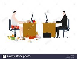 Freiberufler Und Manager Im Business Office Arbeit Zu Hause Und Im