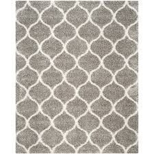 safavieh hudson hathaway gray ivory indoor moroccan area rug common 9 x