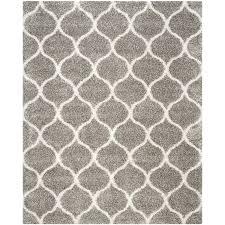safavieh hudson hathaway gray ivory indoor moroccan area rug common 9 x
