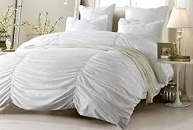white duvet cover twin xl. Beautiful Cover 2pc Ruched Design White Duvet Cover Set Style  1005  TwinTwin XL Throughout Twin Xl X