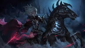 Dark Elf Warrior Riding Horse 4K ...