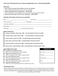 Retreat Registration Forms Womens Ministry Form Sample Marriage Free