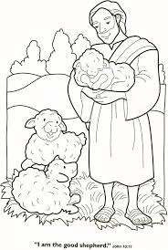 Small Picture Good Shepherd and Lost Sheep Parable Coloring Pages