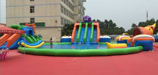 Outdoor pool with slide Cool Bips02 Outdoor Large Inflatable Pool Slide Combo Beston Inflatables Manufacturer Inflatable Pool Slides For Sale You Can Buy Cheap Price