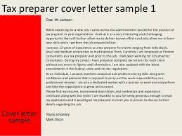 Cover Letter For Tax Preparer Position Tax Preparer Cover Letter