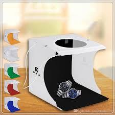 20 cm x 20 cm 2 leds portable folding studio light box photography softbox high quality whole portable folding studio light box with 11 23 piece