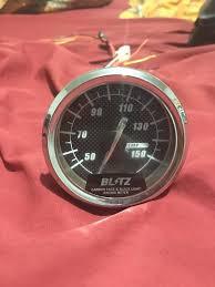 Blitz Black Light Gauges Blitz 60mm Carbon Faced Transmission Temperature Gauge