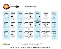 Printable Mandolin Chord Chart Acoustic Music Tv Download