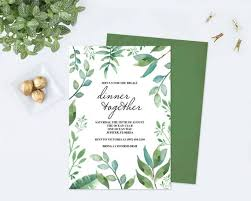 dinner party invites templates dinner party invitation template pdf greenery rehearsal dinner