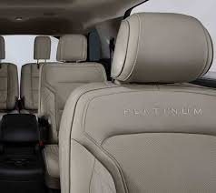 available nirvana leather with micro perforation and quilted inserts inside the 2018 ford explorer platinum