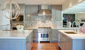 gray kitchen design with danville sphere chandelier