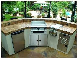 outdoor built in griddle kitchen grill and combo