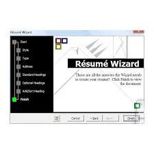 Resume Wizard Word Resume