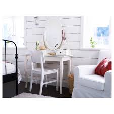 Stand Alone Mirror Bedroom Modern Corner Rectangular White Wooden Makeup Vanity Table With