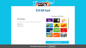 when they on the redeem your card now on they will be taken to a page where they can select the gift card of their choice