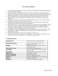 quality resumes software qa analyst resume examples sample senior quality print full