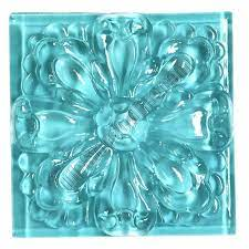 Glass decorative tile and glass mosaic tile is available in a wide range of styles and colors. Glass Tile Relief Deco 4 X 4 Large Glass Flower Deco 4x4 Decorative Glass Insert Blue Glossy Glass Tile Aqua Tiles Decorative Tile