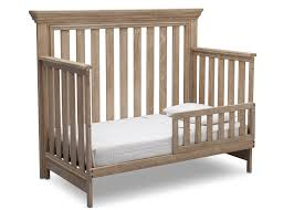 rustic crib furniture. Serta Rustic Whitewash (112) Langley 4-in-1 Crib Right View Toddler Furniture