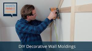 how to diy decorative wall moldings