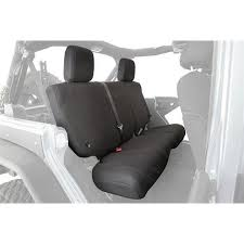 smittybilt g e a r custom fit rear seat cover black 56647601 slickrock 4x4