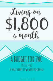 Our Real Budget: Living On Just $1800 Monthly | Pinterest ...