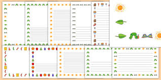 free printable borders teachers free page borders to support teaching on the very hungry