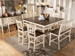 transitional breakfast room with bar height table white dining room furniture whitesburg counter height collection