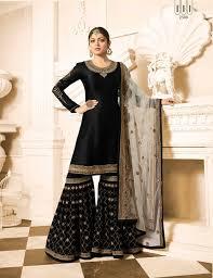Black Sharara Designs Drashti Dhami Black Sharara Pakistani Salwar Kameez Fashion