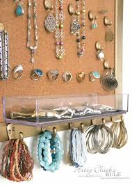 DIY Jewelry Organizer - hooks are great for bracelets - artsychicksrule  #jewelryorganizer #popularpins