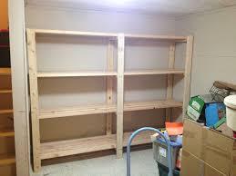 2 x 4 garage shelves built into basement storage