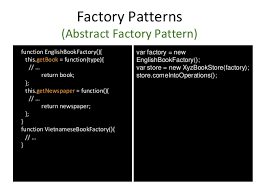 Javascript Factory Pattern