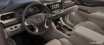 gmc acadia 2015 interior. interior view of the 2018 gmc acadia denali midsize suv gmc 2015 e