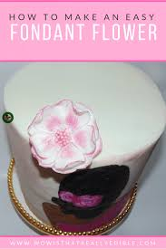 Hand Painted Cake Easy Fondant Flower Tutorial Wow Is That