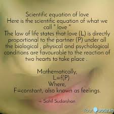 scientific equation love here scientific equation what call