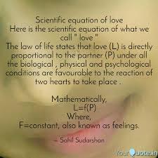 scientific equation love here scientific equation what call