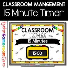 Classroom Timer 15 Minutes