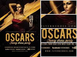 Fancy Flyers Oscars Fancy Dress Party Flyer Template V4 Flyerheroes