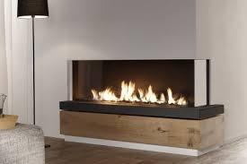 corner style modern gas fireplace