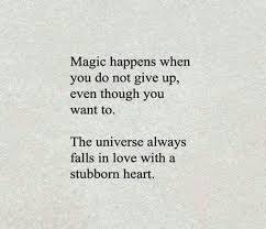 Believe In Love Quotes Beauteous The Universe Always Falls In Love With A Stubborn Heart Quotes We
