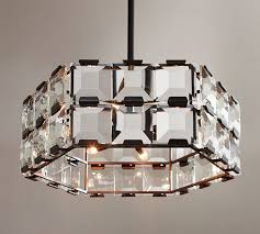 manor crystal paneled chandelier
